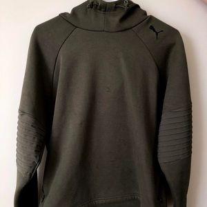 Army green Puma hoodie